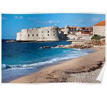 Dubrovnik Beach Poster
