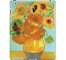 Vase with Twelve Sunflowers, Vincent van Gogh iPad Case/Skin