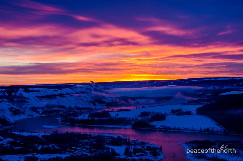 Peace River Sunrise by peaceofthenorth
