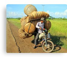 The Basket Man Canvas Print