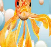 Blowing Bubbles With A Cute Fantail Goldfish Sticker