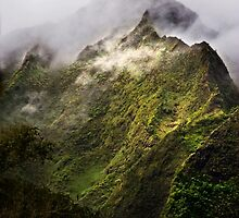 Misty Ko'olau Mountains by Alex Preiss