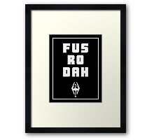 Unrelenting Force Shout Framed Print