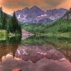 Maroon Bells at Sunrise by Ken Smith