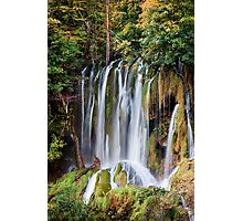 Waterfall in Autumn Photographic Print