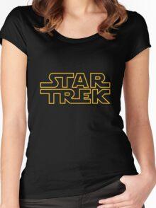 Star/Wars Trek - spoof logo Women's Fitted Scoop T-Shirt