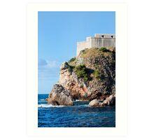 Fort Lovrijenac in Dubrovnik Art Print