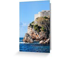 Fort Lovrijenac in Dubrovnik Greeting Card