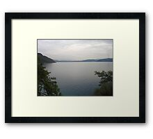 Looking Back at Gokova and Peaks of Snow Framed Print