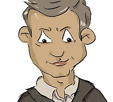 Sherlock Lestrade Cartoon by jill815