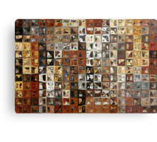 Tile Art #1, 2013. Modern Mosaic Tile Art Painting Metal Print