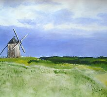 French Countryside Windmill in acrylics by JamesPeart