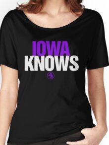 Discreetly Greek - IOWA Knows - Nike Parody Women's Relaxed Fit T-Shirt