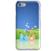Cute Swan Couple Full of Love Heart iPhone Case/Skin
