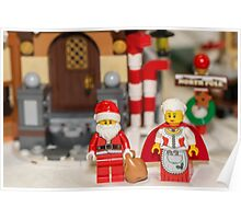 Mr and Mrs Santa  Poster