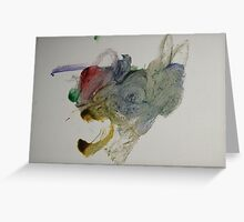 Abstract Bumble Bee Greeting Card