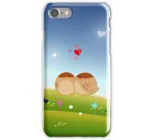 Cute Bird Couple Full of Love Heart iPhone Case/Skin