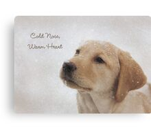 Cold Nose Warm Heart Canvas Print