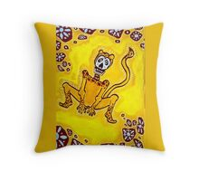 Cheetah Day of the Dead Throw Pillow