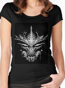 20 Alien Dragons Head By Chris McCabe - DRAGAN GRAFIX Women's Fitted Scoop T-Shirt