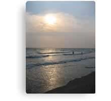 Sunset Over Bangsaen Beach Canvas Print