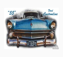 55 Ford Customline, Grill'n - Creative Clothing T-Shirt