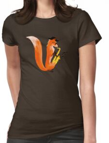 Jazzy Fox Womens Fitted T-Shirt