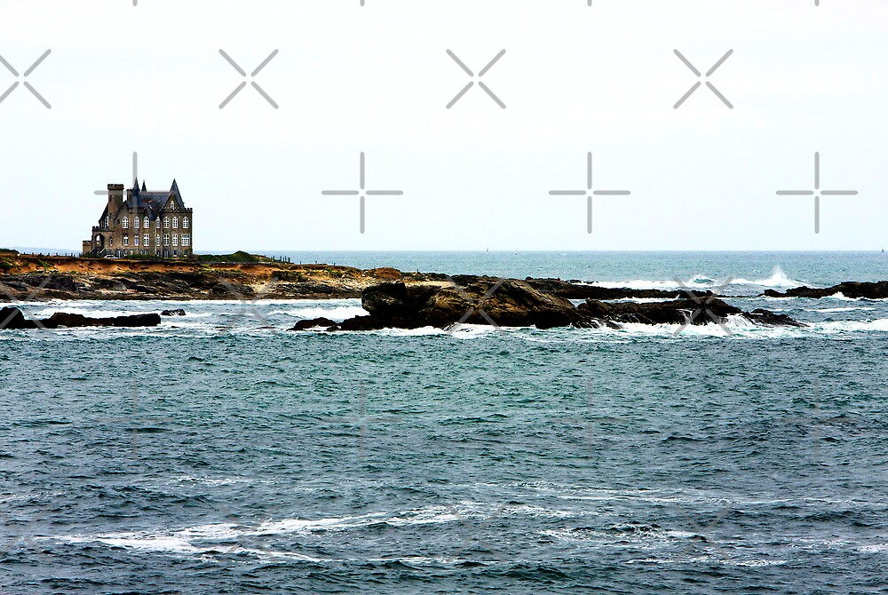 Isolated House on the Wild Coast of Brittany by Buckwhite