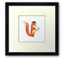 Jazzy Fox Framed Print