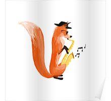 Jazzy Fox Poster