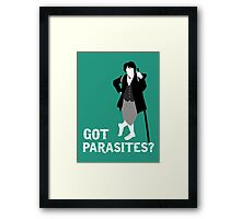 Got parasites? Framed Print
