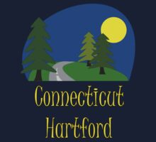 Hartford Connecticut vacation truck stop tee  Kids Tee