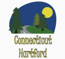 Hartford Connecticut vacation truck stop tee  Kids Tee
