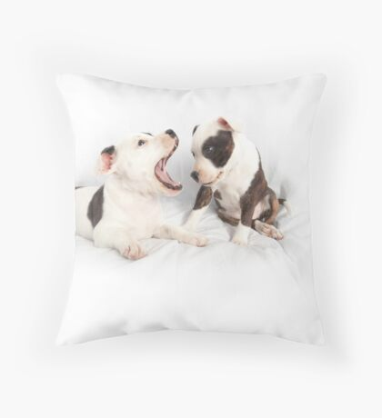 So where are the Canines? Throw Pillow
