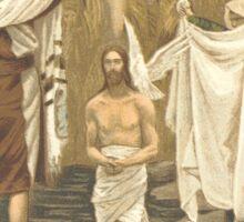 JESUS Baptised. Antique Book Art Reproduction T-shirt. Sticker