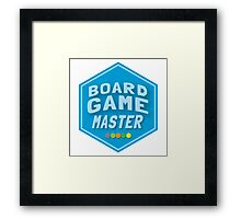 BOARD GAME MASTER (Catan) Framed Print