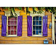 New Orleans French Quarter Shutters Doors Colors Louisiana Artwork Photographic Print