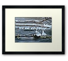 Ice Bells over Rock Creek, Twin Falls, Idaho, USA Framed Print