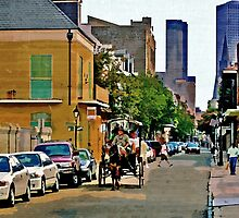 New Orleans French Quarter Carriage Louisiana Artwork by Oldetimemercan
