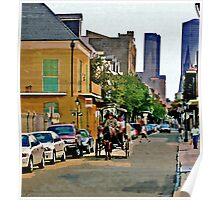New Orleans French Quarter Carriage Louisiana Artwork Poster