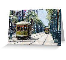 New Orleans French Quarter Streetcar Louisiana Artwork Greeting Card
