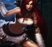 League of Legends Katarina Kitty by gleviosa