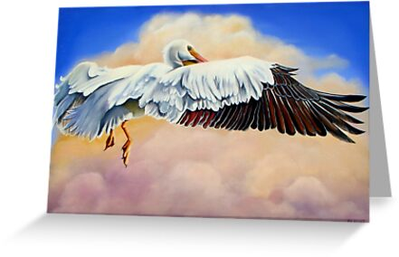 Pelican in the Clouds by Phyllis Beiser