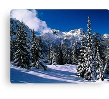Rural Farm Life Snow Scene Poster Print And Card Canvas Print