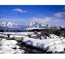 Rural Farm Life Snow Scene Poster Print And Card Photographic Print