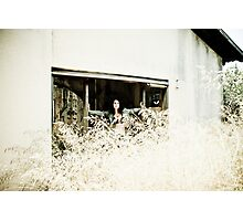 The Girl in the Abandoned House Photographic Print
