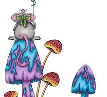 Miss Mouse on a Mushroom by TammaraW