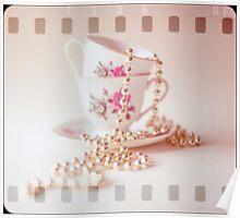 Pastel Film Vintage Teacups  Poster