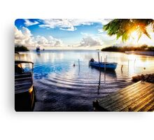 Fishing Village Sunset Canvas Print