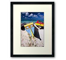 Fishing Boats of Aruba Framed Print